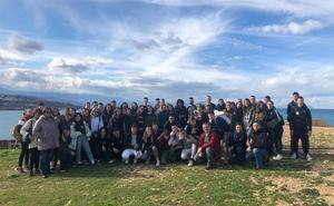 Ocho jóvenes rondeños participan en un programa de intercambio en Creta