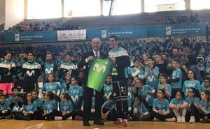 El Movistar Inter comparte un entrenamiento con 700 escolares malagueños