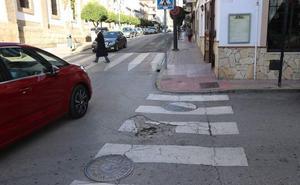 Fotodenuncia: paso de peatón en mal estado en el centro