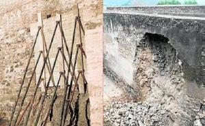 Las obras urgentes para arreglar y prevenir derrumbes en la Alcazaba y Gibralfaro tardarán meses