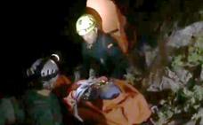 Rescatan a una escaladora tras sufrir un accidente a unos 300 metros de altura en el entorno de El Chorro