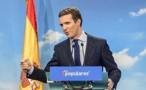 Casado: «El PP ha conseguido que Sánchez tire la toalla»