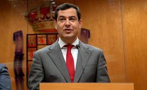 Juanma Moreno califica a Sánchez de «presidente fallido» y su anuncio de elecciones, «una dimisión»
