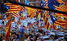 El soberanismo se exhibe como un «muro humano» contra el juicio del 'procés'