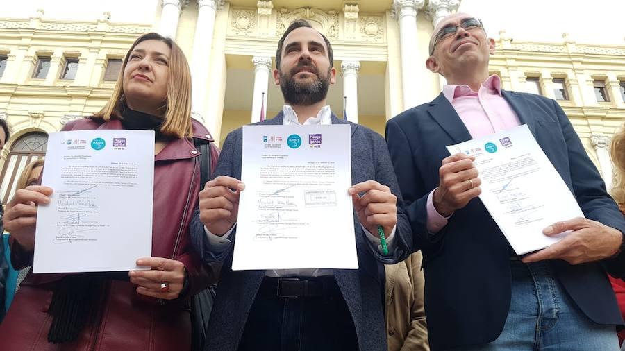 Tres grupos de la oposición piden un pleno extraordinario para exigir la dimisión de Porras y Pomares