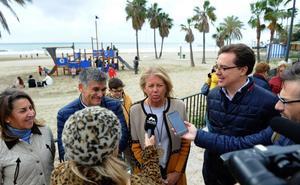 Nueva instalación infantil en la playa de La Bajadilla