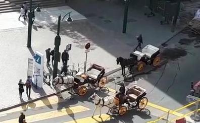 El Ayuntamiento anula una parada de coches de caballos por el ruido de las obras de la Alameda