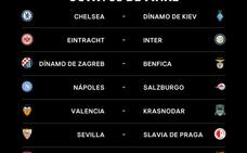 Sevilla-Slavia, Valencia-Krasnodar y Zenit-Villarreal, en octavos