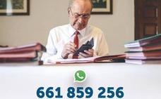 Un alcalde estándar contesta en WhatsApp