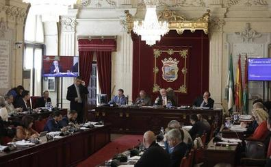 Bronca política en el pleno del Ayuntamiento de Málaga