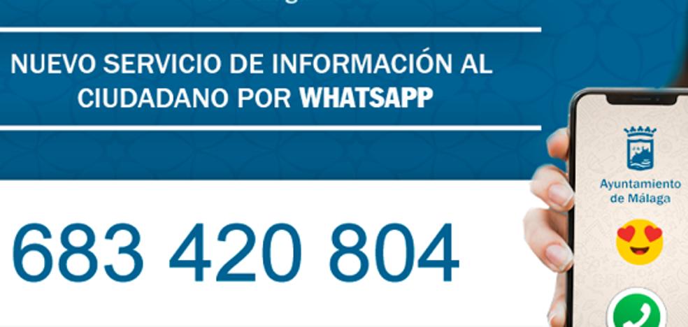 El Ayuntamiento de Málaga activa un servicio de información ciudadana vía WhatsApp