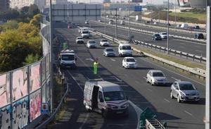 Cortado al tráfico hasta el jueves uno de los principales accesos a Málaga capital