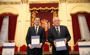 Andalucía estrecha lazos con Melilla en la primera visita oficial de un presidente de la Junta