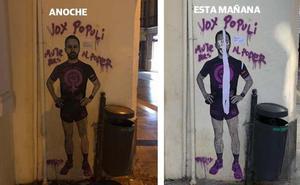 Santiago Abascal 'se hace' feminista por unas horas en Málaga