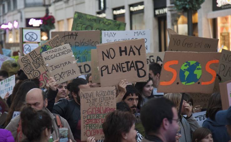 Un millar de personas salen a la calle en Málaga en defensa del planeta