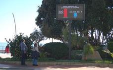 La Junta Electoral prohibe al Ayuntamiento de Estepona la pantalla con mensajes sobre la deuda