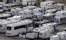 El camping de autocaravanas de Málaga cuelga el cartel de completo