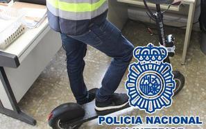 Detenido en Málaga por robar un patinete eléctrico de una empresa de alquiler valorado en 1.000 euros