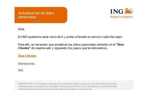 Alertan de una nueva campaña de phishing a ING