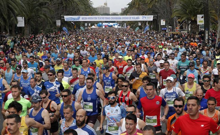 Las mejores imágenes de la Media Maratón Teatro Soho Caixabank Ciudad de Málaga 2019