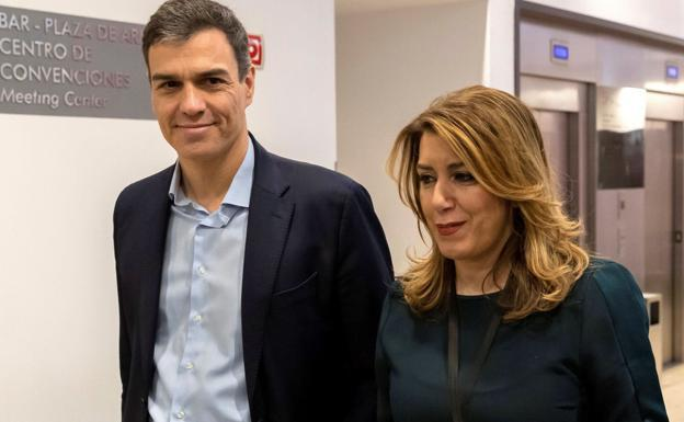 Pedro Sánchez y Susana Díaz participan este lunes en un acto en Málaga
