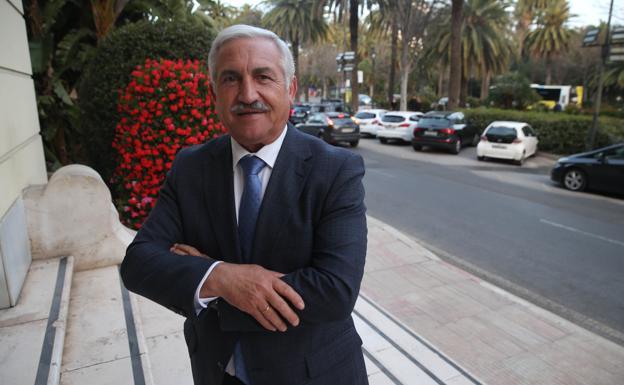 José del Río, ayer en el Ayuntamiento. /Salvador Salas