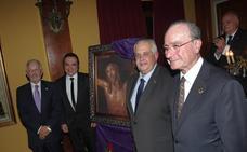 Montiel pinta el cartel anunciador de la Expiración