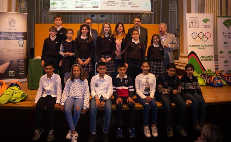 La Sociedad Thales entrega los premios de la fase provincial de la Olimpiada Matemática