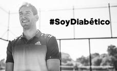Álex Ruiz, el jugador de pádel malagueño que lidera una campaña sobre la diabetes