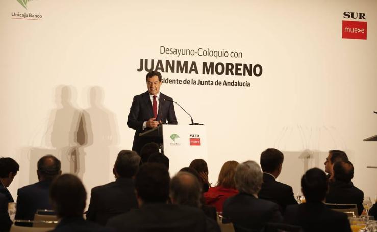 El Foro SUR con el presidente de la Junta, Juanma Moreno, en imágenes