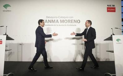 Juanma Moreno defiende la colaboración privada para el futuro Auditorio de Málaga