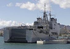 El buque Galicia puede visitarse en el Puerto de Málaga