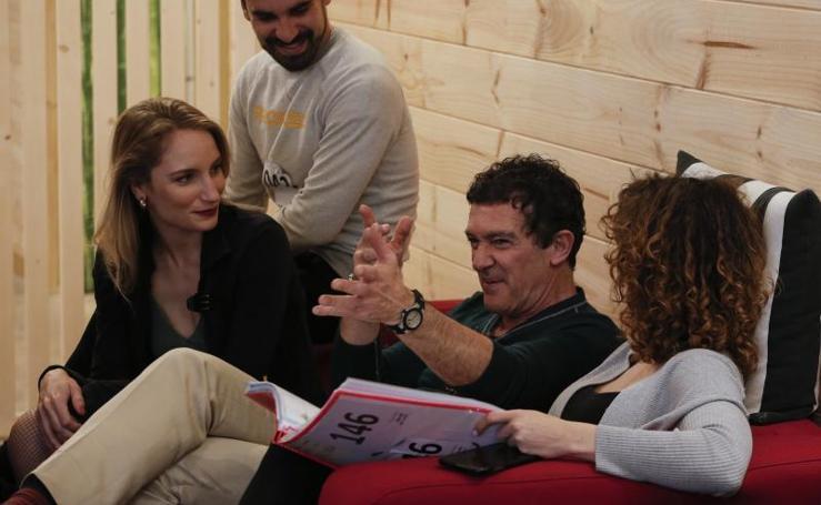 Antonio Banderas en la fase final de las audiciones para la obra que inaugurará su teatro