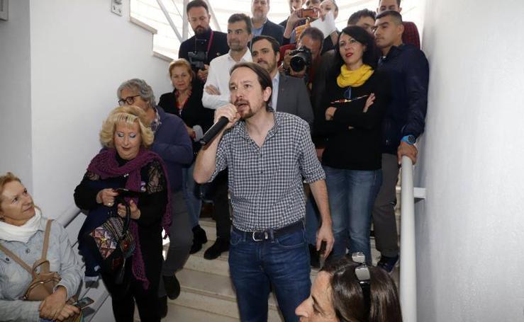 La visita de Iglesias a Málaga en imágenes