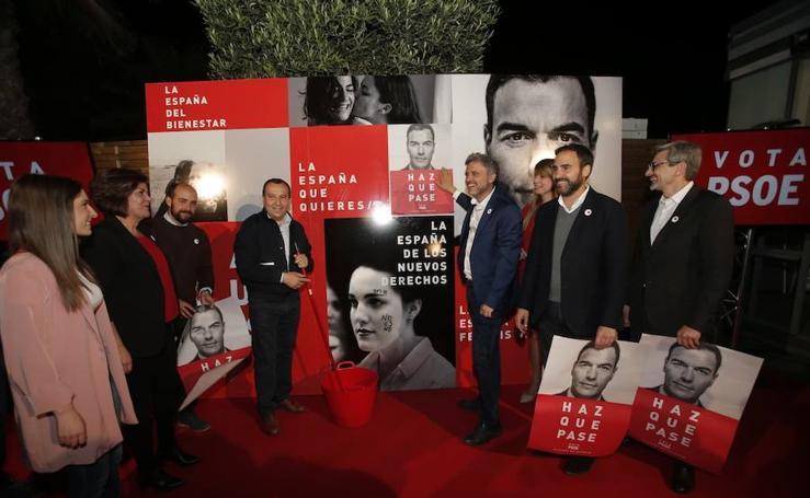 Comienzo de la campaña electoral del 28-A en Málaga