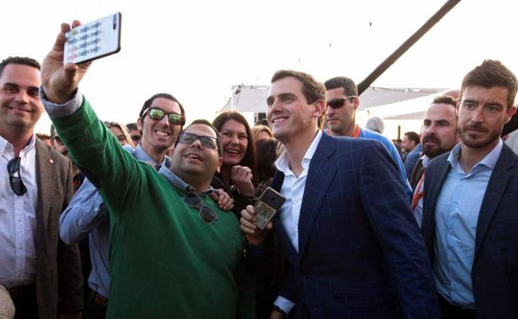 Albert Rivera, de campaña electoral por Málaga