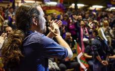 Iglesias reivindica en Eibar que el autogobierno se convierta en debate de Estado