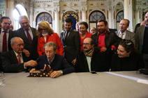 Todos con Manuel Alcántara: muy presente en las actividades de la sociedad malagueña