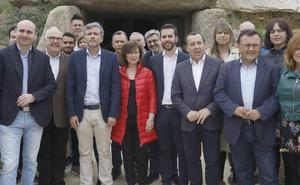 Calvo asegura que el PSOE ha estado «siempre al pie del cañón» con los Dólmenes de Antequera