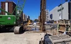 Las obras del metro se aceleran en la avenida de Andalucía