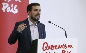 Garzón alerta sobre el «riesgo cierto y claro» de que Sánchez acabe pactando con Cs