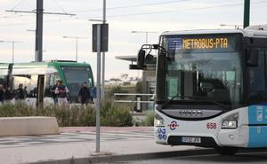 La puesta en servicio del 'metrobus' reduce hasta en 20 minutos el trayecto al PTA