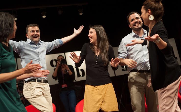 El acto de Unidas Podemos en Málaga con Montero y Garzón