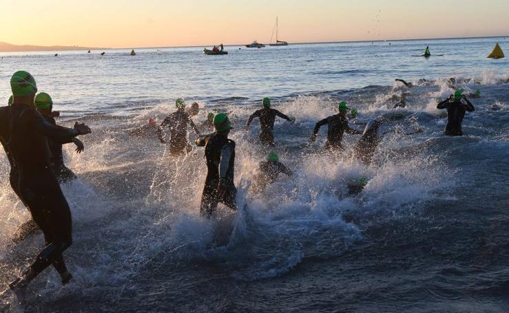 Triatletas de todo el mundo participan en la segunda edición del Ironman 70.3 de Marbella
