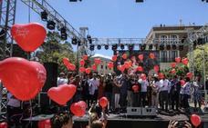 'Soles' que iluminan Málaga de solidaridad