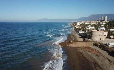 Una investigación con drones permite medir la pérdida de playas en Málaga