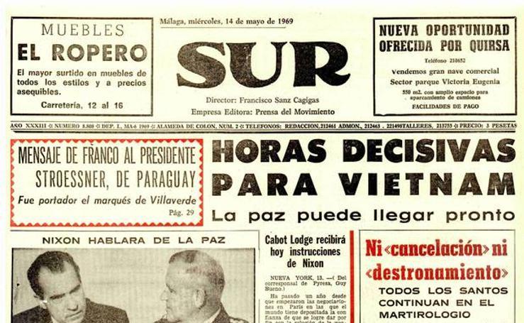 SUR hace 50 años | El periódico SUR del 14 de mayo de 1969