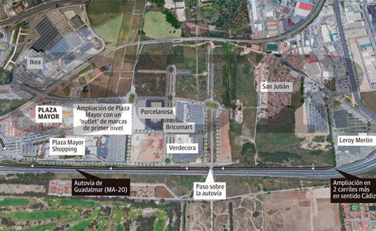 Proyecto de mejora de los accesos al centro comercial y de ocio Plaza Mayor por su ampliación