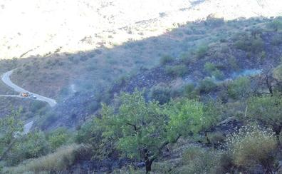 Un incendio en zona agrícola calcina 1,8 hectáreas entre Totalán y Olías