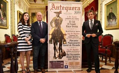 El Cid, El Fandi y Paco Ureña abren los festejos de la Feria de Primavera de Antequera el 2 de junio